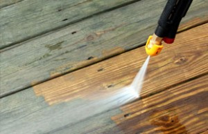 timber deck pressure cleaning Elvina Bay